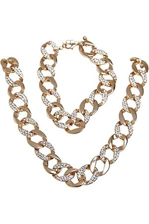 Urban classics Unisex Basic Diamond Necklace And Bracelet Set Manschettenknöpfe