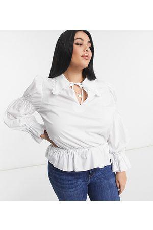 Fashion Union – Popeline-Hemd mit Spitzenborte und Kragen