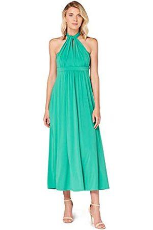 TRUTH & FABLE Amazon-Marke: Damen Maxi A-Linien-Kleid, (Alambra Green), 34