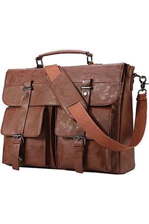 seyfocnia Leder-Kuriertasche für Herren, Klassische Lederlaptoptasche 15,6 Zoll, Business- Schultertasche Aktentasche, Laptoptasche