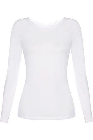 La Perla Damen Longsleeves - Baumwolle Shirt mit Langen Ärmeln
