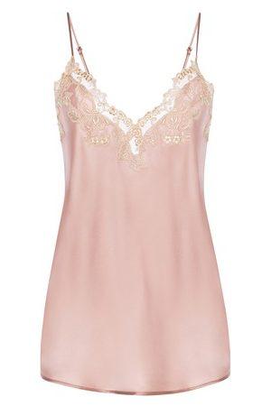 La Perla Damen Schlafanzüge - Shirt aus Seide mit Frastaglio