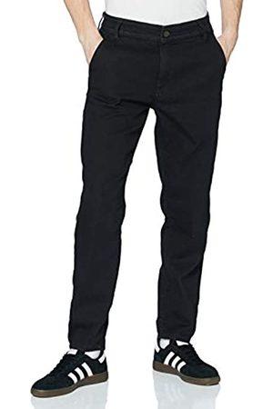 Urban classics Herren Chinos - Herren Knitted Chino Denim Hose, Black