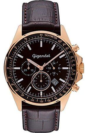 Gigandet Herrenuhr Chronograph Quarzwerk Analog mit Lederarmband Volante G3-004