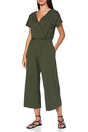 People Tree Damen Jumpsuits - Damen Evelyn Jumpsuit.Khaki Jumpsuit
