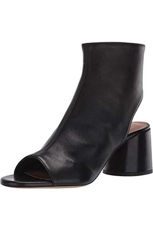 Emporio Armani Women's Open Toe and Back Bootie Ankle Boot, Black