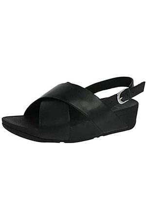FitFlop Damen LULU Cross Leather Knöchelriemchen Sandalen, (Black)