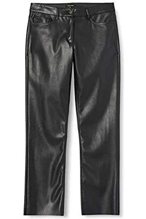 More & More Damen Leder & Lederimitathosen - Damen Fake Leather Lässige Hose