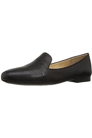 Naturalizer Women's Emiline Loafer Flats Slip-On, Tumble Leather Black