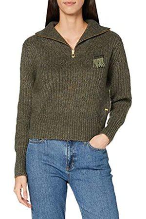 Scotch&Soda Maison Womens Rollkragenpullover aus Wollmischung mit halbem Reißverschluss Pullover Sweater