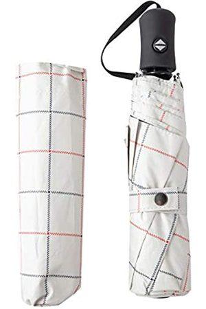JINGSHUO Automatischer Regenschirm, UV-Schutz, automatisches Öffnen, Schließen, groß, kompakt, faltbar, Reise-Regenschirm, winddicht, verstärkter Baldachin, ergonomischer Griff