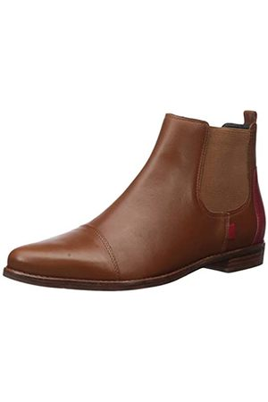 Marc Joseph New York Damen Leather Made in Brazil Pointed Toe Ankle Boot Stiefelette, Cognac Nappa/
