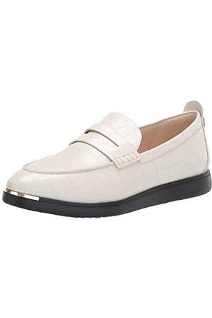 Cole Haan Damen Grand Ambition Troy Penny Slip-On Sneaker Halbschuhe, Elfenbeinfarbenes Krokodilleder/Schwarze Außensohle