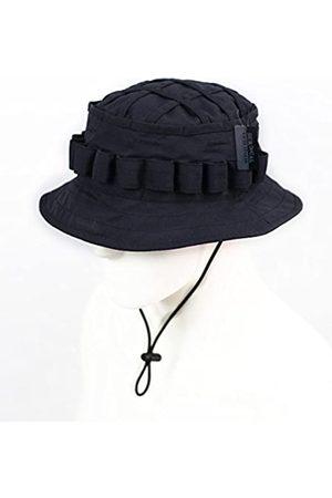 ZAPT ZAPT Boonie Hut Military Camo Cap Hunter Sniper Ghillie Bucket Hats Adjustable Dschungel Buschhut (Solid Black)