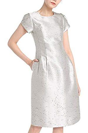 Apart APART Elegantes Damen Kleid, Cocktailkleid, aus glänzendem Jacquard, Kurze Tulpenärmel