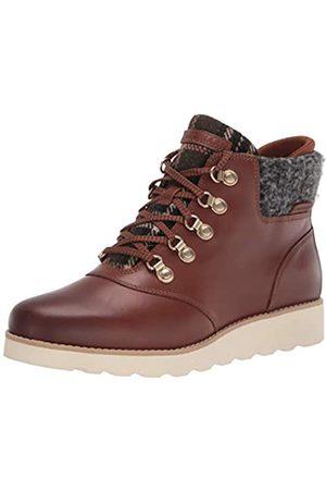 Cole Haan Damen NTKT RGD HKR BT:CH ERTHN WP LTHR Wanderstiefel, Ch Earthen Leather/Black Rustic Wool
