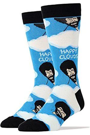 ooohyeah Herren Bob Ross Lustige Socken Weihnachten - - Large