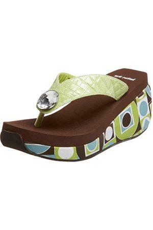 Not Rated Damen Hang Ten Sandalen mit Keilabsatz, Grn