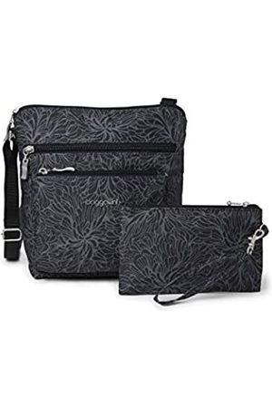 Baggallini Crossbody-Tasche mit RFID-geschütztem Handgelenk, (Midnight Blossom)