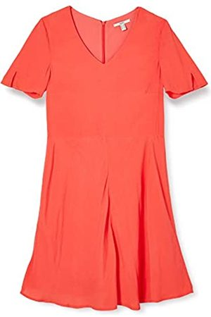 Esprit Damen Kleid, 050EE1E329, Rot(645/CORAL)