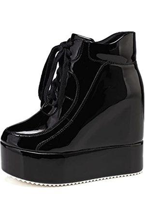 GETMOREBEAUTY Damen Plateau-Sneaker mit verstecktem Absatz und Keilabsatz