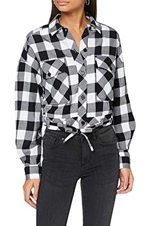 Urban classics Damen Ladies Short Oversized Check Shirt Hemd