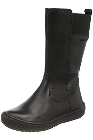 Geox J HADRIEL GIRL H Mid Calf Boot, Black