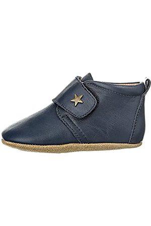 Bisgaard Bisgaard Unisex Baby Velcro Star Pantoffeln, Blau (21 Navy)
