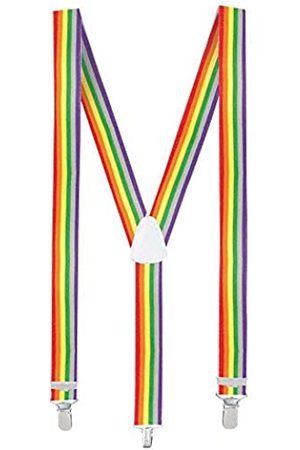 Boland Boland 00596 - Hosenträger Rainbow, one size, größenverstellbar, regenbogenfarben, Clown, Karneval, Halloween, Fasching, Mottoparty, Verkleidung