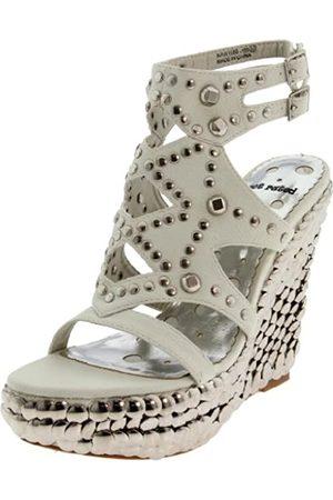 Not Rated Damen-Sandalen, kurz, mit Keilabsatz, Wei