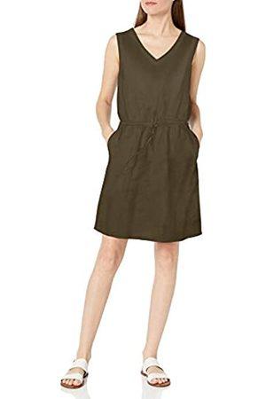 Amazon Sleeveless Linen Dress Kleid