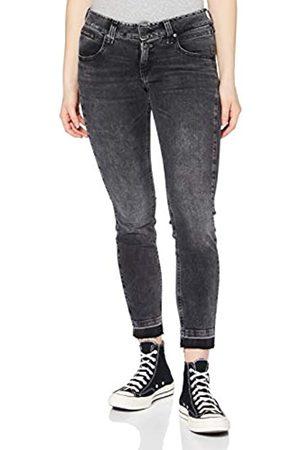 Herrlicher Damen Skinny - Damen Cropped Denim Black Cashmere Touch Jeans