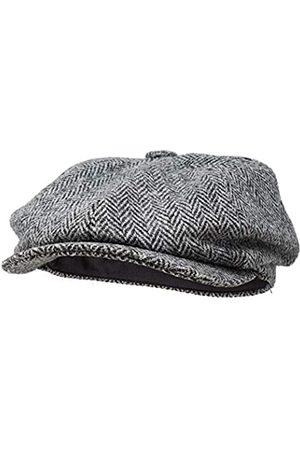 Borges & Scott Borges & Scott Lomond Schirmmütze Newsboy – Schiebermütze aus 100% handgewebter Wolle - Harris Tweed - wasserabweisend - 62cm
