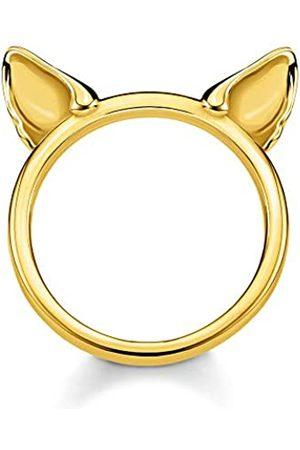 Thomas Sabo Thomas Sabo Damen-Ring Katzenohren 925 Sterlingsilber gelbgold vergoldet TR2260-413-39-48