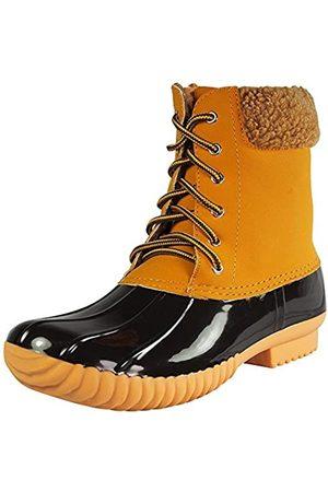 Nature Breeze Duck-02 Damen Stiefel, zum Schnüren und Reißverschluss, wasserdicht, isoliert, Beige (weizenfarben)