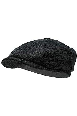 Borges & Scott Lomond Schirmmütze Newsboy – Schiebermütze aus 100% handgewebter Wolle - Harris Tweed - wasserabweisend - 62cm