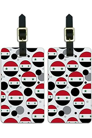 Graphics and More Graphics & More Nationalflagge O-s-Syrien (Weiß) - Luggage.Tags.09703