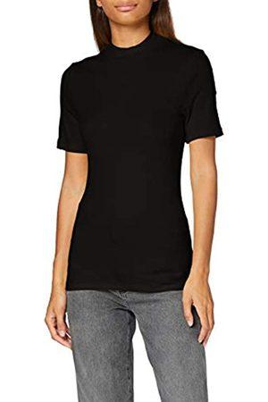 Pieces Damen PCBIRDIE SS T-Neck NOOS BC T-Shirt, Black