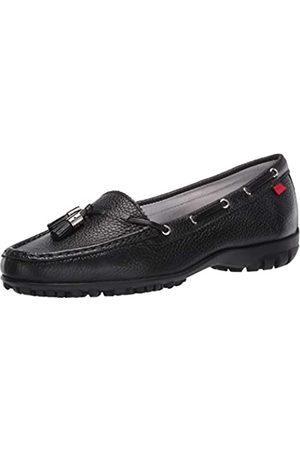Marc Joseph New York Women's Leather Made in Brazil Spring Street Golf Shoe, Black Tumbled Grainy