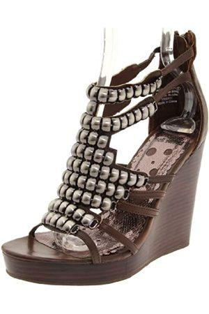 Not Rated Damen Count Down Sandalen mit Keilabsatz, Braun (Schokoladenbraun)