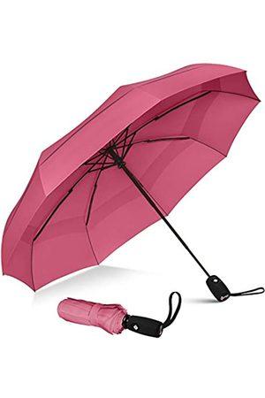 Repel Umbrella Laptop- & Aktentaschen - Winddichter Reiseschirm - Doppelt Belüfteter Regenschirm mit Teflon-Beschichtung (Rose)