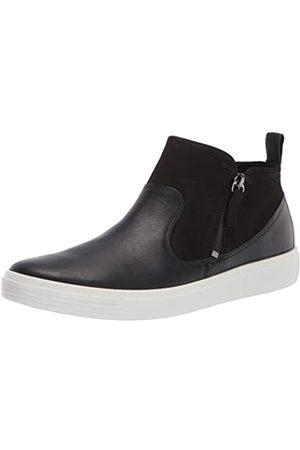Ecco Damen Soft Classic Bootie Sneaker, /schwarzes Wildleder