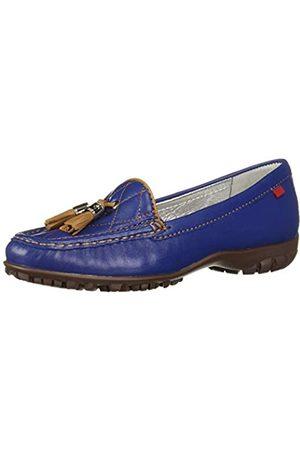 Marc Joseph New York Damen Echtleder Made in Brazil Wall Street Golf Schuh Sportschuh, (Vintage Blue Nappa/Hellbraun)