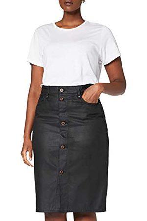 G-Star Damen Bleistiftröcke - Womens Noxer Navy Pencil Button Slim Skirt