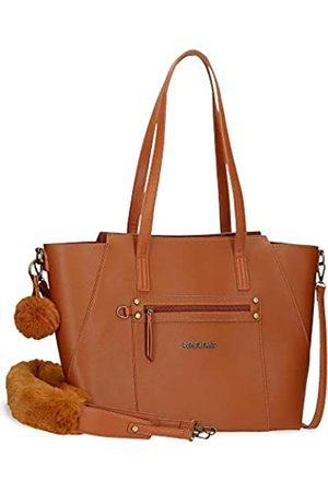 Pepe Jeans Pepe Jeans Annie Handtasche zum Einkaufen Braun 35x32x15 cms Synthetisches Leder
