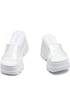 Cape Robbin Gardener Plattform-Clogs für Damen, Damenmode, bequeme Slip-On-Schuhe, Blau (Weißer Onyx)
