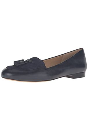 FrenchTrotters Women's Caroline Ballet Flat, Navy Suede