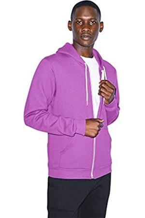 American Apparel Herren Sweatshirts - Unisex-Erwachsene Flex Fleece Long Sleeve Zip Hoodie, F497W Kapuzenpullover