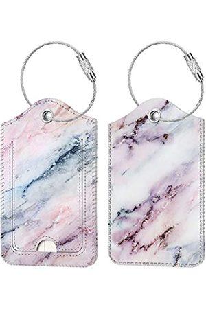 Fintie Gepäckanhänger, Sichtschutzhülle, mit Edelstahl-Schlaufe und Adresskarte für Reisetasche, Koffer