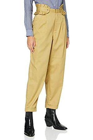 Scotch&Soda Maison Womens Clean twill chino with detachable pleated belt Casual Pants, Sand-0137